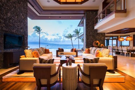 exotic tropical living room designs enjoy view