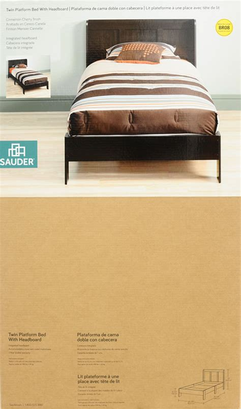 Sauder Parklane Platform Bed With Headboard by Sauder Parklane Platform Bed With Headboard Espresso