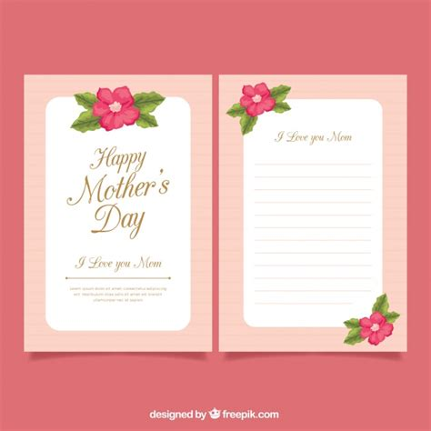 printable decorative note cards decorative greeting card for mother s day vector free