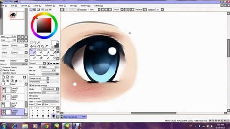 draw anime paint tool sai tutorial paint tool sai tutorial how to draw anime eye