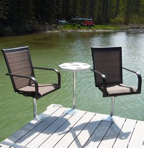 boat dock table and chairs dock accessories boat dock accessories at ease dock lift