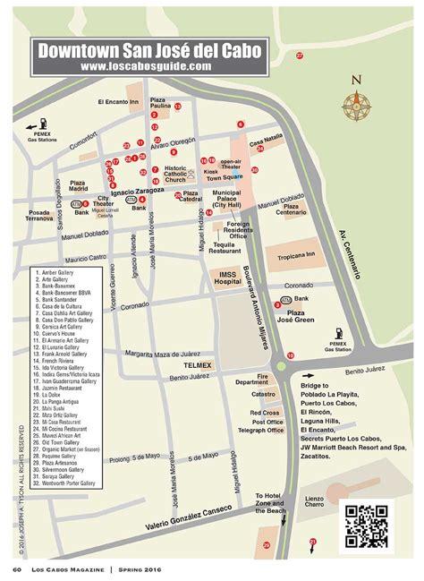 san jose downtown restaurants map maps 2016 san jose cabo guide