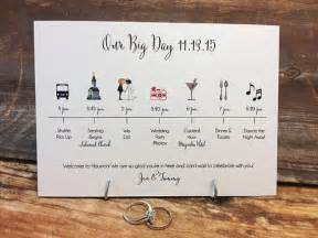 wedding timeline card big day deposit by pixelstopaper on etsy