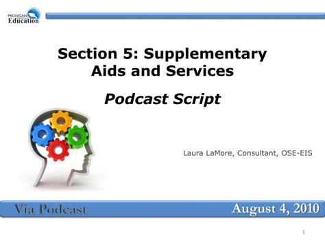 supplementary section ppt section 5 supplementary aids and services podcast
