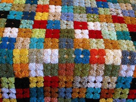 pattern for yo yo quilt yo yo quilt for the home pinterest