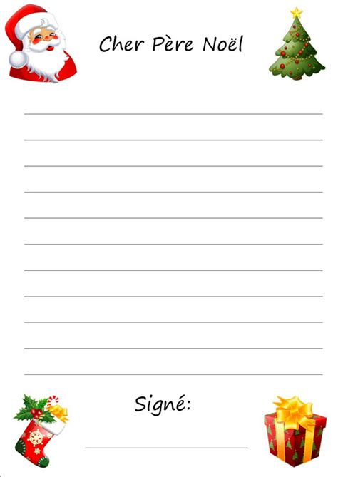 Exemple Lettre Pere Noel Gratuite Modele Lettre Pere Noel Mod 232 Le De Lettre