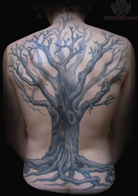 tree back tattoo tree on back