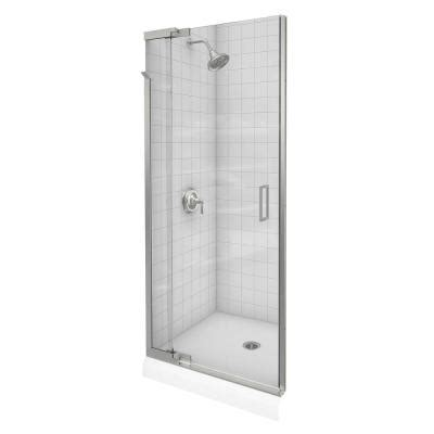 home depot glass shower doors kohler purist 42 in x 72 in heavy frameless pivot shower