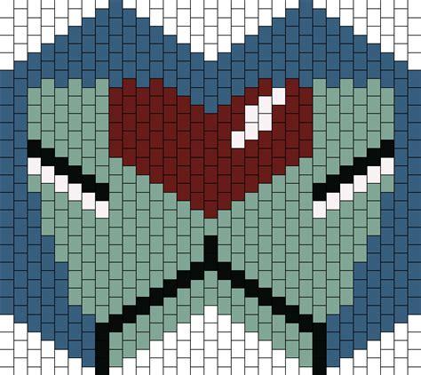 pattern unit evangelion unit 00 mask bead pattern peyote bead