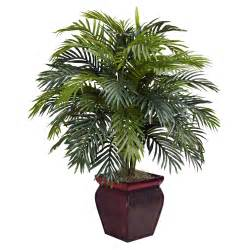 Decorative Trees For The Home 38 Inch Artificial Areca Plant In Decorative Planter 6686