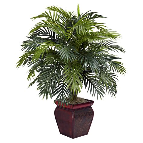 House Plant Pots 38 Inch Artificial Areca Plant In Decorative Planter 6686