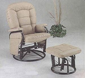Amazon Com Deluxe Style Bone Rocking Swivel Glider Chair Swivel Rocking Chair With Ottoman