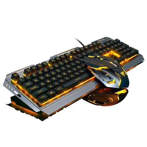 Keyboard Gaming Untuk Laptop v1 wired backlit illuminated multimedia ergonomic usb gaming keyboard gamer 3200dpi optical