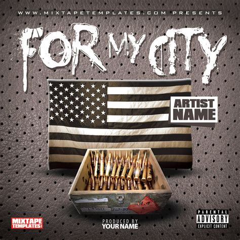 design cover art free online for my city mixtape cover template by