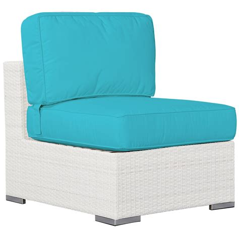 Teal Armless Chair by City Furniture Biscayne Teal Armless Chair