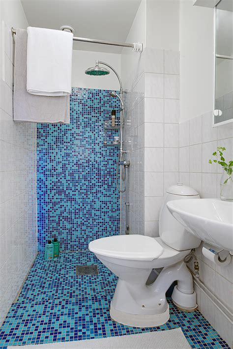 small blue bathroom tiles project swedish apartment 10 single room apartment with an