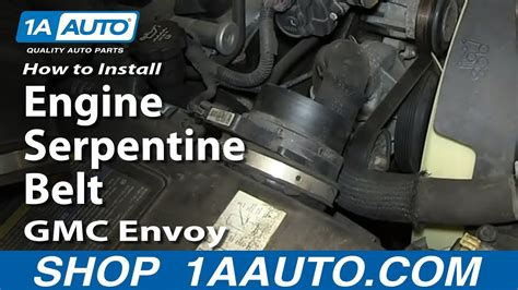 how cars engines work 2000 gmc envoy navigation system how to install replace engine serpentine belt v8 5 3l gmc envoy and xl xuv youtube