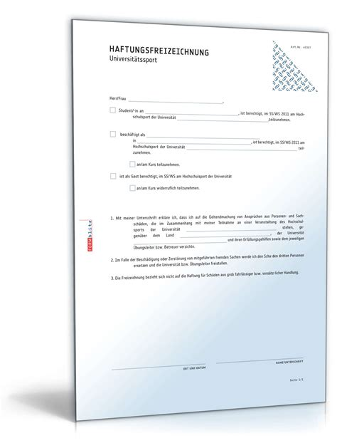 Beispiel Bewerbung Grob Und Aubenhandelskaufmann Haftungsfreizeichnung Universit 228 Tssport Muster Zum
