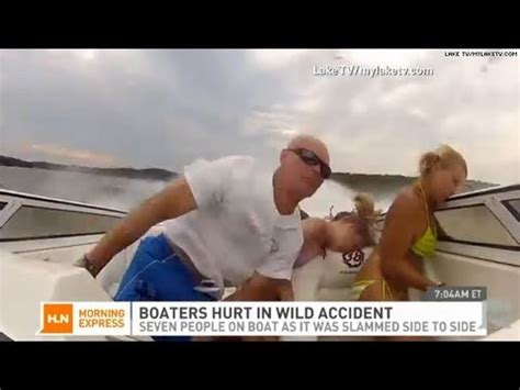 boat crash caught on tape wild boat accident caught on tape youtube