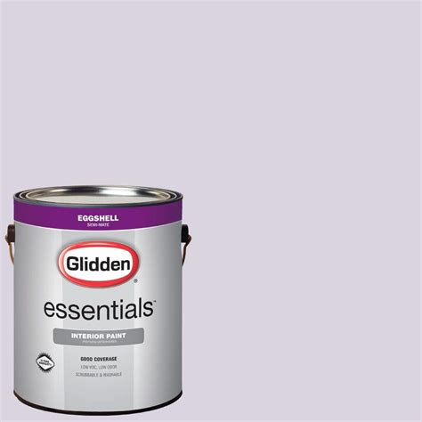 glidden essentials 1 gal hdgv57 scent of purple eggshell interior paint hdgv57e 01en the
