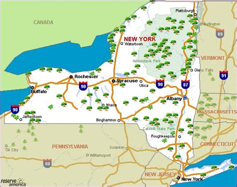 give me a map of new york new york cing resources and information