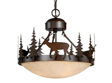 Deer Ceiling Light by Bryce Vaxcel Deer Semi Flush Lighting Country Lodge Rustic