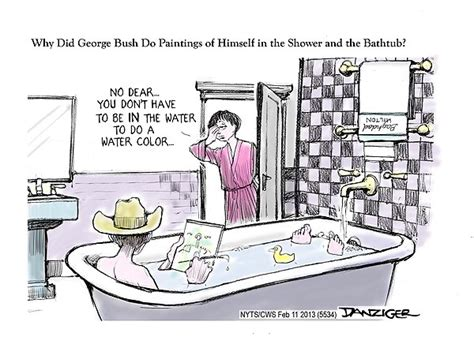 George Bush Paintings Bathtub by Bush Bath Paintings Huffpost