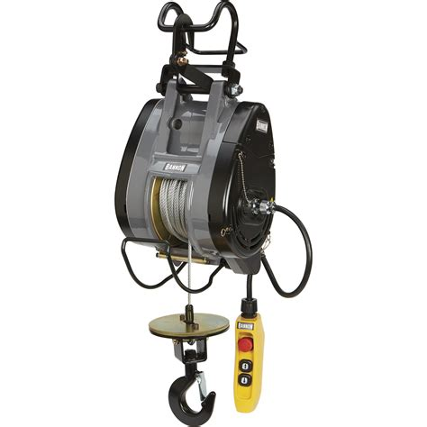 bannon compact electric cable hoist  lb capacity ft lift  volts  phase