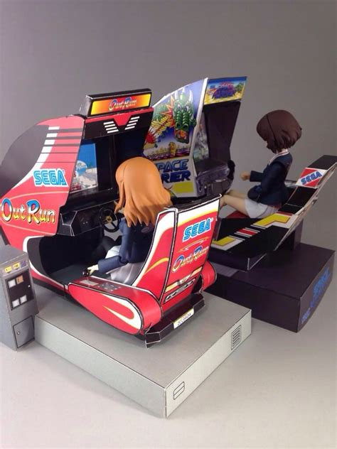 Papercraft Machines - sega papercraft arcade machines sega outrun 86