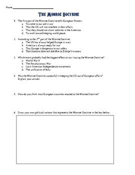 Doctrine Worksheet by Doctrine Primary Source Analysis By Students Of