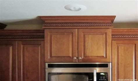 crown molding on top of cabinets where to install crown molding in your home