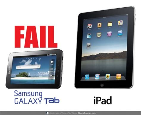 vs android tablet fail vs android tablet samsung galaxy tab obama pacman