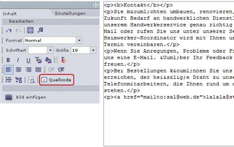 html quellcode layout kann ich den html quellcode einer livepages seite bearbeiten