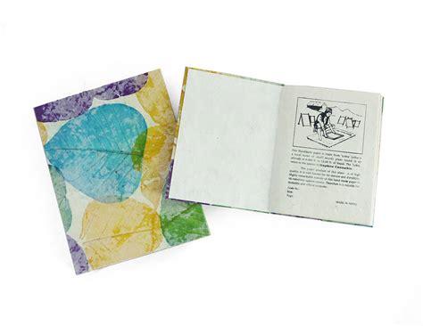 handmade lokta paper notebook by aura que