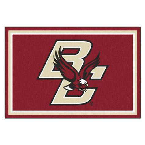 college rugs fanmats ncaa boston college 8 ft x 5 ft indoor area rug 20120 the home depot