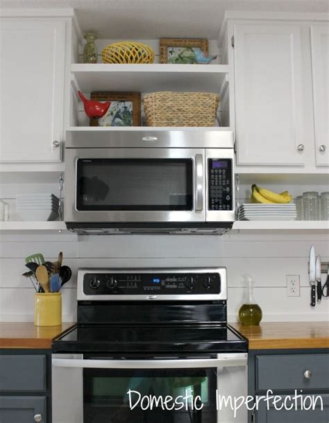 Shelves Above Kitchen Cabinets 1000 Ideas About Microwave Hood On Pinterest Microwave