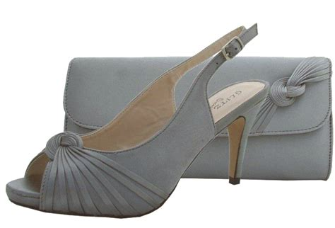 pewter wedding shoes and matching bag - Pewter Shoes For Wedding