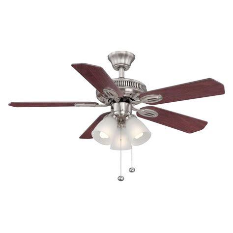 hton bay brushed nickel ceiling fan hton bay glendale 42 in indoor brushed nickel ceiling