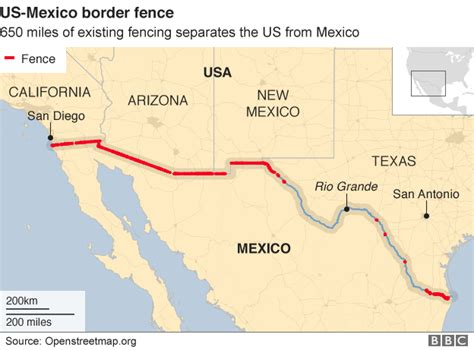 map us mexico border 2 crossing lines on s wall econmatters