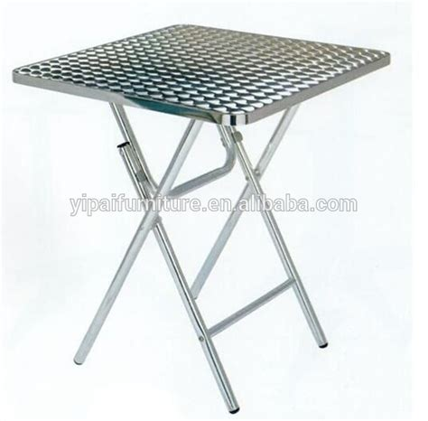 Folding Stainless Steel Table Stainless Steel Folding Table Breakfast Study Aluminum Foldable Table Small Dining Table Yt5a