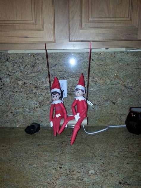 elf on the shelf swing swinging elf on a shelf pinterest