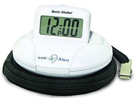 sonic shaker vibrating travel alarm clock