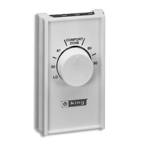 King Thermostat Knob shop king rectangle mechanical non programmable thermostat