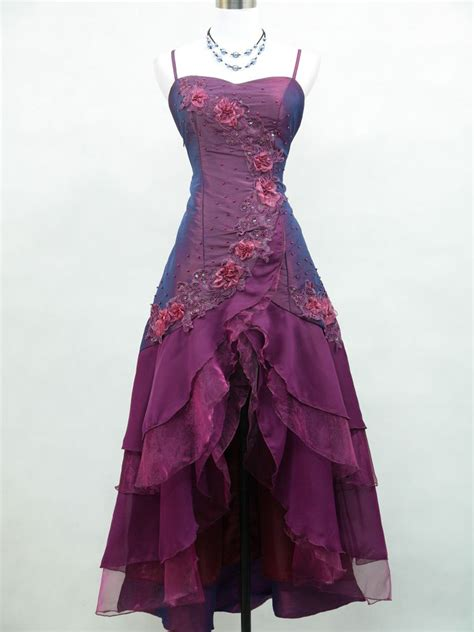 Ebay Evening Dresses | cherlone satin dark purple prom lace bridesmaids ball
