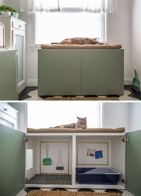 litter box in bedroom 10 ideas for hiding your cat litter box contemporist