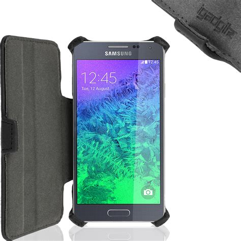 Leather Samsung Galaxy Alpha G850 igadgitz premium folio pu leather for samsung galaxy alpha sm g850 with viewing stand