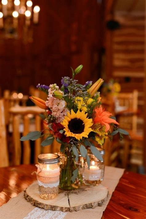 country style centerpieces 100 bold country sunflower wedding ideas page 16 hi