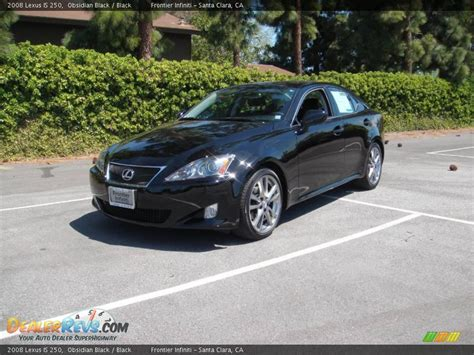 black lexus 2008 2008 lexus is 250 obsidian black black photo 1