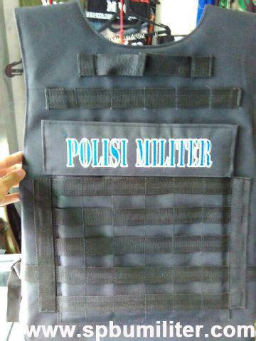 Jaket Loreng Kopasus Pom rompi polisi militer asli jatah spbu militer