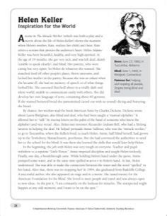 helen keller biography passage sacagawea nonfiction passage crossword puzzle writing